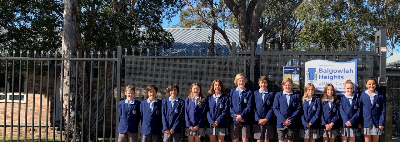 Balgowlah Heights 2020 School Leaders